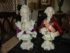 Kister Porcelain Dresden Figurine King Louis XVI and Queen Marie Antoinette Bust