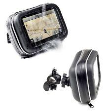 Motorcycle Handlebar Mount & Waterproof Case For Garmin Zumo 340 390 590LM GPS