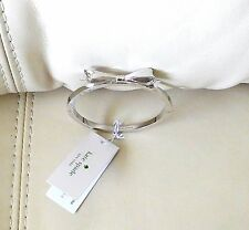New Kate Spade New York Love Notes Large Bow Bangle Silver