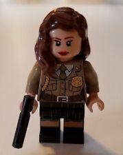 LEGO Marvel Agent Carter Peggy Carter (Captain America) minifigure genuine LEGO