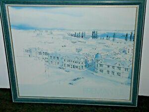 Fremantle & Boat Harbour by Eric Moyle Blue Tones 2 Large Prof. Framed Prints