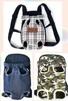 New Pet Carrier Backpack Adjustable Pet Front Cat Dog Carrier Travel Bag Leg Out