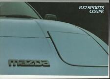 MAZDA RX7 SPORTS COUPE SALES BROCHURE 1984