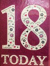 18th Birthday Card...Pink Glitter