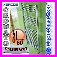 3S SCALDASALVIETTE CROMATO CURVO RADIATORE 120 x 60 CALORIFERO BAGNO TEKNO ERCOS