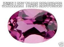 Natural Pink Tourmaline 6mm x 4mm Oval Cut Gem Gemstone