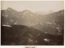 Suisse, Portes du Soleil, massif du Chablais, vue générale  Vintage albumen prin