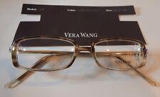Vera Wang V007 Light Demi Horn 50/17 Eyeglass Frame New