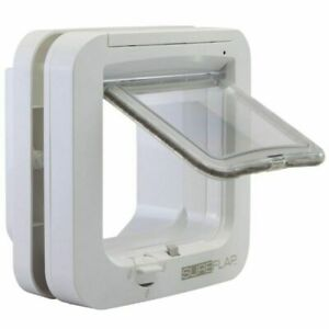 Genuine SureFlap Microchip Pets Door Large Cat Flap Small or Big Cat White NEW