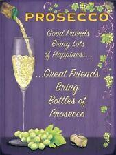Prosecco Bicchiere Di Vino Bevande Bar Pub Cucina Vecchia Pubblicità