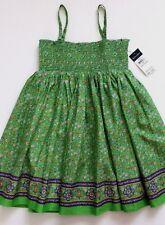 Ralph Lauren Girls Sun Dress Floral Green Size 6  NWT