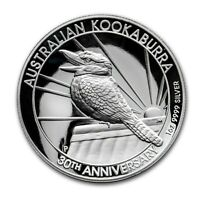 2020 Australian Kookaburra 1 oz High Relief Silver Proof 30th Anniversary Coin