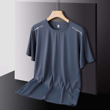 Ice silk short-sleeved quick-drying clothes men's breathable sports t-shirt