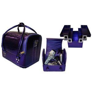 Hair Tools Professional Hairdressers/Beauty Kit Bag/Tool Case - Purple