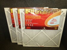 """NOS! LOT of (3) 3M FILTRETE MICRO ALLERGEN FURNACE AIR FILTERS, 25"""" x 25"""" x 1"""""""