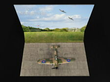 1/72 Airfield Tarmac Sheet: Battle of Britain Airfield Set #2 Grass Wall