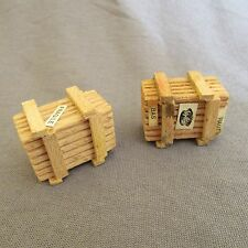 255D Set of 2 Crates Wood GéGé Ho 1:87