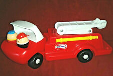 Vintage Little Tikes Firetruck 2 Firemen 1 Worker Toddle Tots People Red Truck