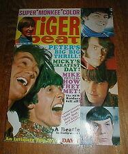 TIGER BEAT mag November 1967 MONKEES Mr. Spock GEORGE HARRISON NM-