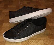 Michael Kors Logo City Sneaker MK Signature Shoes BLACK Size 6.5