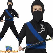 Ninja Assassin Costume Martial Arts Childs Kids Boys Fancy Dress Costume