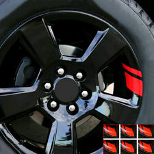 6pc Red Reflective Car Wheel Rim Vinyl Decal Sticker Car Accessories For 16 21 Fits 2006 Civic