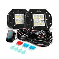 5inch 18W LED Flood Work Light Bar Offroad Fog Driving Lamp Truck 4WD+Wiring Kit