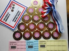 IT'S MY BIRTHDAY MEDALS- ( GIRLS )  X 15 - METAL 50MM/ RIBBON/CERTIICATE/QUALITY