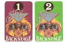 Lot of 2 Beach Boys unused peel-back Fasson Backstage Cloth Passes