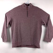 Vineyard Vines Mens Hamilton Pullover Sweater Maroon Space Dye 1/4 Zipper L