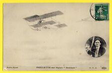 cpa Cachet Bordeaux AVIATION Pilote Marcel PAILLETTE du HAVRE sur BIPLAN SOMMER