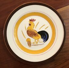 """EXTREMELY RARE Stangl ~COUNTRY LIFE~ 6"""" Snack PLATE ~ROOSTER~ 1950's Farm"""