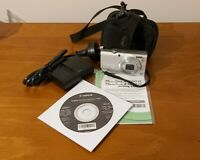 Canon PowerShot A4000 IS 16MP Digital Camera-Silver - with accessories