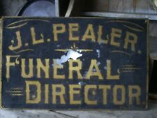 Antique 19th C Painted Funeral Director Trade Sign Funeral Home Parlor