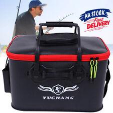 Medium large Fishing Boxes Storage Bucket Live Bait Folding EVC