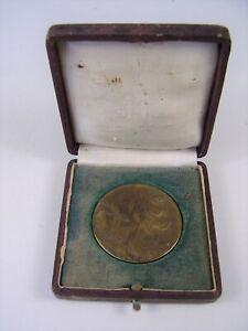 Antike Plakette / Münze Dem Verdienste Geflügelzüchter Sachsen im Etui vor 1945