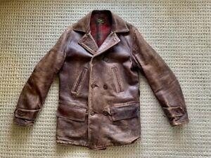 Double RL RRL Original Vintage Brown Horsehide Coat/Jacket Size M