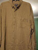 WOOLRICH Button Down Long Sleeve Brown Plaid 100% Cotton Flannel Shirt Men's XL