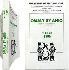Revue Omaly sy Anio n°21-22 1985 Madagascar politique malgache agriculture etc