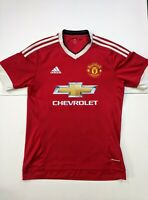 Adidas Manchester United Soccer Jersey Red Mens Small