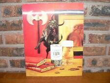Vintage Schlitz Malt Liquor Advertising Lenticular 3-D Wall Display Beer Sign
