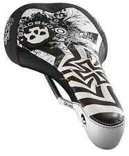 NIB DA BOMB DA SKULL 2.0 MTB Saddle - White/Black