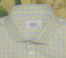 CHARLES TYRWHITT Blue Yellow Longsleeve Button Down Shirt 19 37