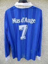 Maillot ALES porté n°7 DUARIG vintage shirt MAS D'AUGE manches longues football