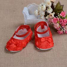 Nouveau Bébé Filles Rouge Rose Fête Chaussures 9-12 Mois