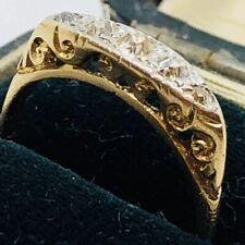Yellow Gold Boat Shaped Ring Stunning Victorian Diamond 18 Carat