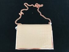 BNWT TED BAKER Elegant Metal Detail Exotic XBody Bag Natural HALF PRICE!!