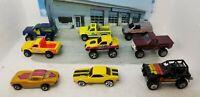 Lot 9 Vintage Hot Wheels, Matchbox Die-cast Toy Cars - Trucks, Corvette, Bronco