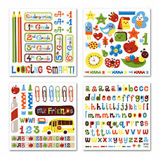 SMARTY Rub Ons SWATCH PACK scrapbooking K - 6th Grade School (4) SHEETS