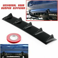 """23"""" x6"""" Ikon Style Universal Rear Bumper Lip Diffuser 5 Fin Gloss Black E2"""